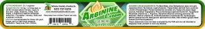 Arginine Cream 2% L Arginine 2oz Jar Product Label